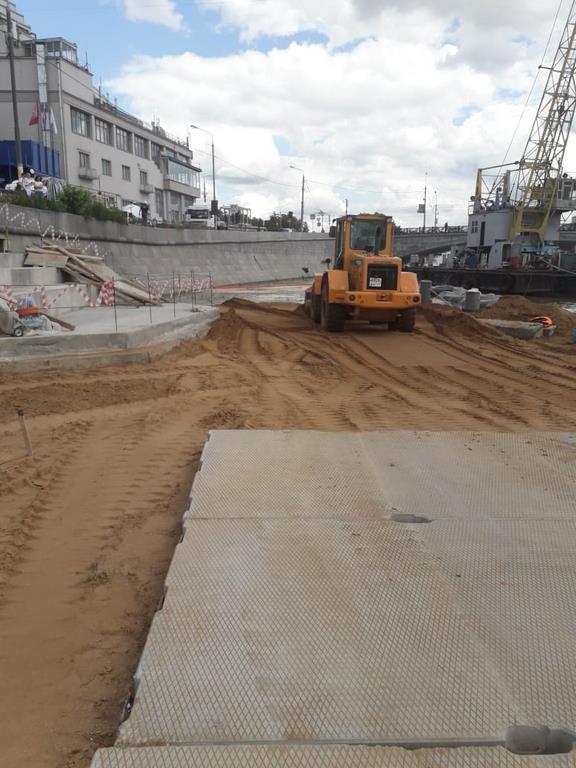 Уплотнения песка