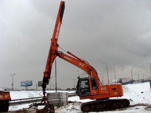 Аренда экскаватора Hitachi 225 с грейфером -компания Техоптимум