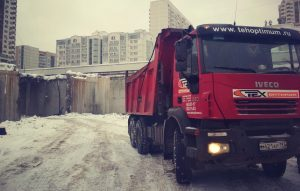 Вывоз грунта самосвалами в Москве-компания Техоптимум
