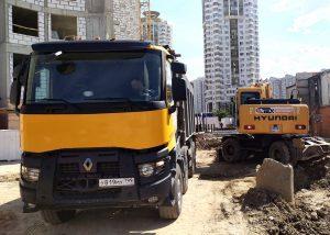 Земляные работы-разработка котлована и вывоз грунта компания Техоптимум.