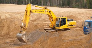 Доставка песка на оьект-компания Техоптимум