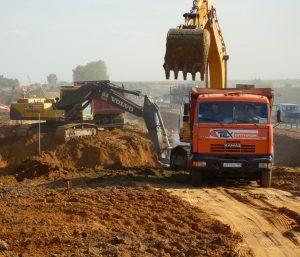 Земляные работы-вывоз грунта компанией Техоптимум