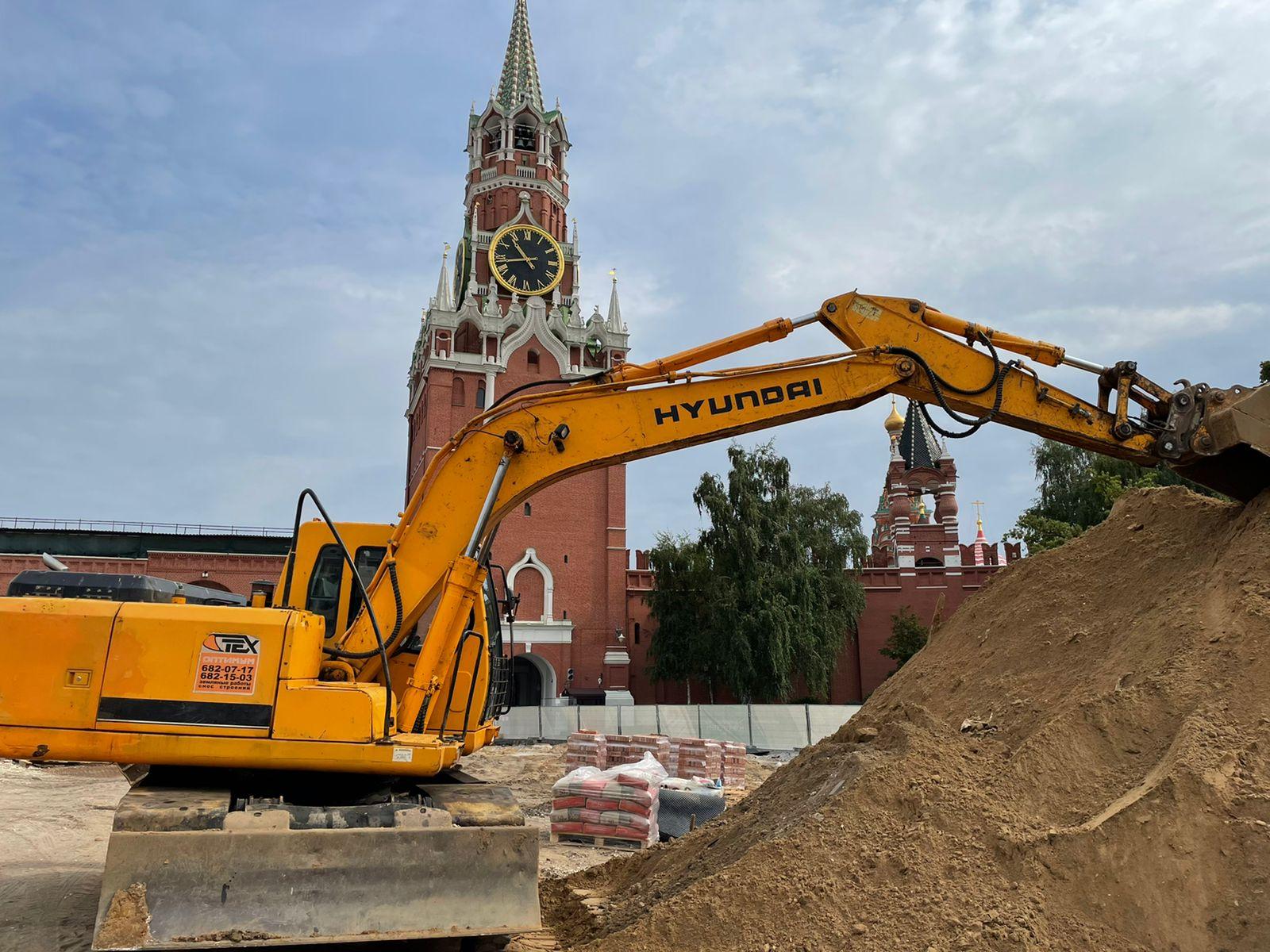 Благоустройство московского кремля территории
